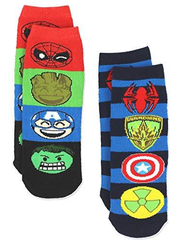 (Marvel Comics 2 pack Boys Teen Superhero Slipper Socks with Grippers (L-XL Teen/Adult (Shoe: 4-10),)
