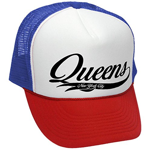 QUEENS - usa nyc new york city america - Adult Trucker Cap Hat, (Queen Trucker Hat)