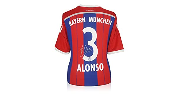 63b03f67a Xabi Alonso Signed Bayern Munich Soccer Jersey at Amazon s Sports  Collectibles Store