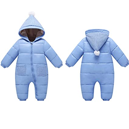 89e85bb778e3 Teaching Clocks Franterd Baby Girls Boys Romper Down Jacket Hooded Jumpsuit  Autumn   Winter Warm Thick Coat Onesie Snowsuit Clothes