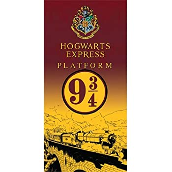 Monogram Harry Potter Express 9 Train, 28x58 Beach Towel