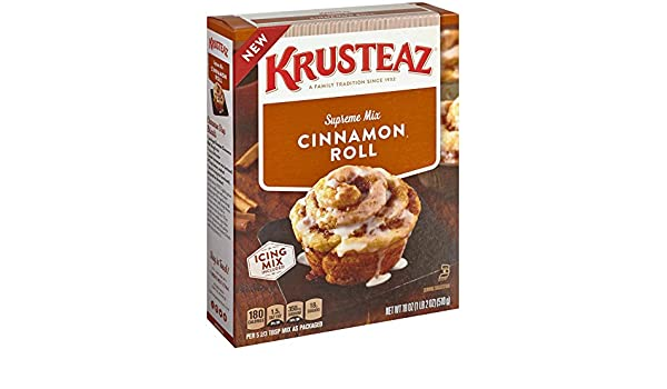 Amazon.com : Krusteaz Cinnamon Roll Supreme Mix, 18-Ounce Boxes ...
