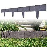 10 Piece Cobblestone Flower Bed Border by Pure Garden
