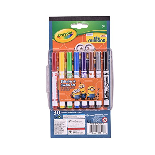 Crayola Pip Squeaks Markers (Set of 8) with 30 Page Tablet (Skinnies Markers Pipsqueaks)