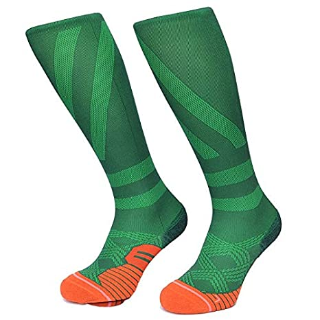 Best Quality Hah Socks Women Running Sock Colorful Strip Compression Skate Cycling Socks Quick Drying Ski