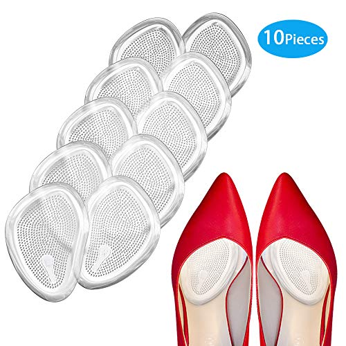 Premium Metatarsal Pads, Soft Ball of Foot Cushions,Reduce Foot Pain and Provide Support, Suit for Men Women & All Shoes Types.(10 Pcs)
