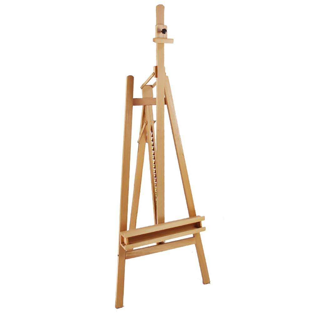 イーゼル 木製大型イーゼル汎用性、ブナの軽量の高さ調節可能な三脚スタジオ、プロの絵画ディスプレイ展   B07S58WVVD