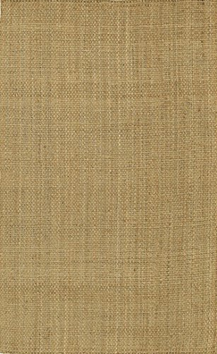 Surya Jute Woven JS-2 Natural Fiber Hand Woven 100% Natural Jute Tan 2'6″ x 4′ Accent Rug For Sale