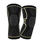 internet filter for kindle fire - mk. park - 1 Pair Breathable Warmth Basketball Sports Safety Kneepad Training Protect Pads (Yellow, M)