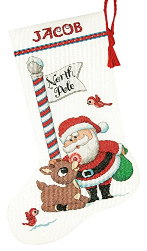 Dimensions Needlecrafts Dimensions Rudolph Cross Stitch Stocking Kit, 70-08959 -