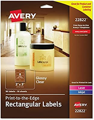 Amazon Avery Easy Peel Print To The Edge Rectangle Labels 2 X