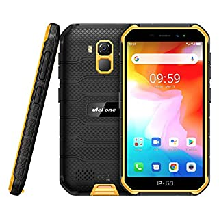 Ulefone Armor X7(2020) Android 10 Rugged Phones, 13MP + 5MP Waterproof Cameras, IP68 Smartphone, NFC, OTG, 4G Dual Sim, 5.0 Inch Screen, 2G RAM 16GB ROM, 4000mAh Battery, GPS, Bluetooth, WIFI - Orange