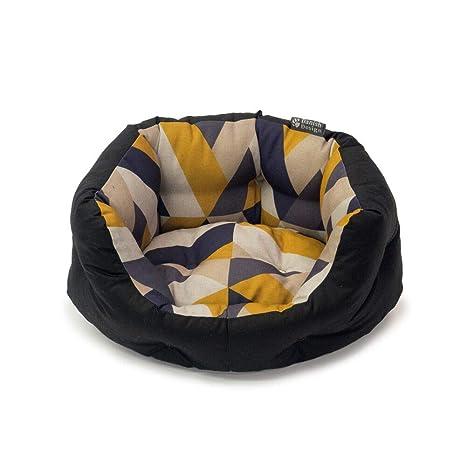 Danish Design Cama para Perro con diseño danés de retrete ecológico y azulejo Geo, tamaño