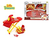 Little Treasures Ironing Clothing Pretend Play Girl Mini Laundry Toy Playset - Great add on Set for Any Pink Doll house toys for Kids