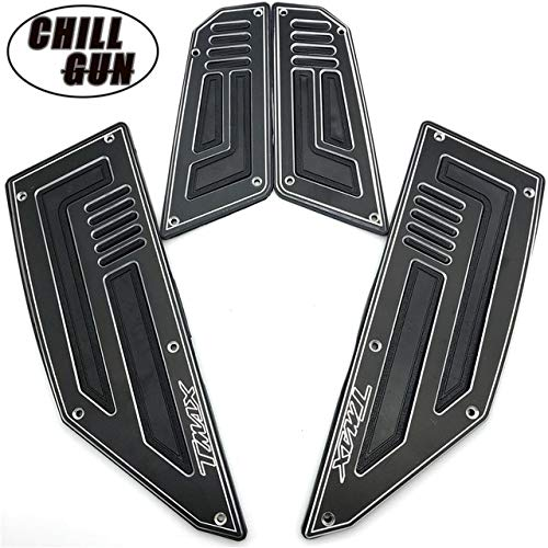 Frames & Fittings Motorcycle Footpegs Plate Pads Footboard Cover Step Foot Footrest for Yamaha TMAX530 TMAX 530 T-MAX 530 2012 2013 2014 2015 2016 - (Color: Black)