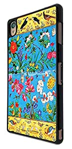 428 - Shabby Chic Floral Roses Multi Birds Design For Sony Xperia Z4 Fashion Trend CASE Back COVER Plastic&Thin Metal