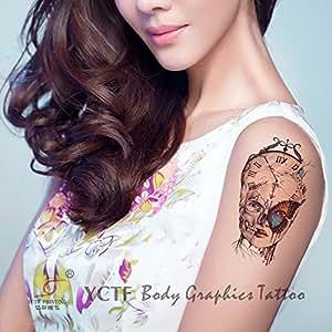 Zokey Diseno original a prueba de agua pegatinas tatuaje temporal Reloj brazo flor bruja: Amazon.es: Juguetes y juegos