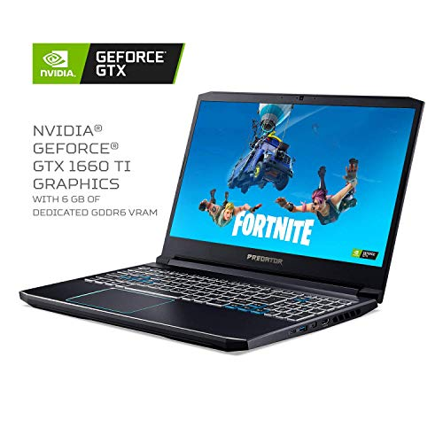Acer Predator Helios 300 Gaming Laptop PC, 15.6 inches Full HD 144Hz 3ms IPS Display, Intel i7-9750H, GTX 1660 Ti 6GB, 16GB DDR4, 256GB PCIe NVMe SSD, Backlit Keyboard, PH315-52-78VL