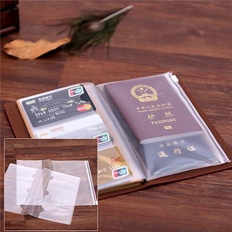 misura standard Standard Size Wine Red da viaggio con ricariche//cerniera Envelop//carte di supporto incluso in pelle taccuino da Chris Wang