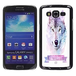 Dragon Case - FOR Samsung Galaxy Grand 2 - Having a calm smile? - Caja protectora de pl??stico duro de la cubierta Dise?¡Ào Slim Fit
