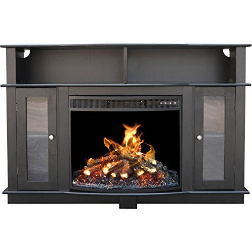 """52"""" 1500W Electric Media Fireplace TV Stand with LED Ligh..."""