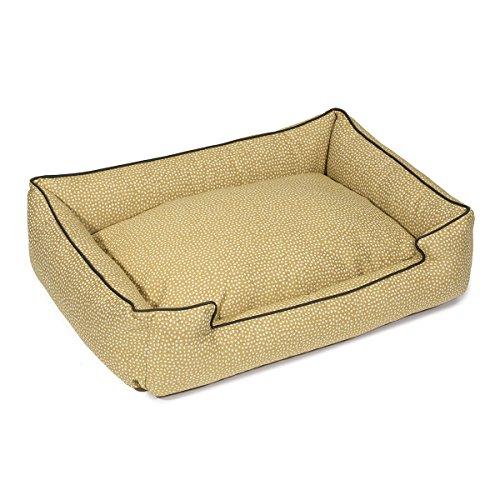 Jax and Bones 24 x 18 x 7 Premium Cotton Blend Lounge Dog Bed, Small, Flicker Maize