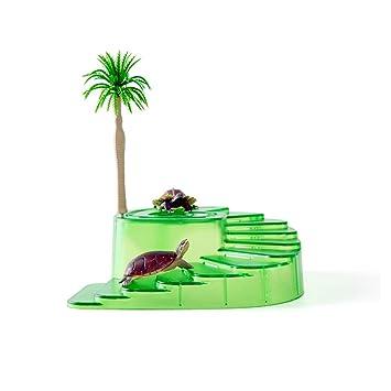 Amakunft - Rampa para Plataforma de Caza para Tortugas y Reptiles con decoración de árbol y comedero y escondite de Cerveza, estación de Acuario Grande: ...