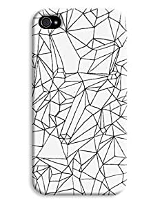 Black & White Shapes Pattern iPhone 4 4S Hard Case Cover