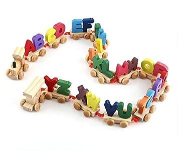 Alfabeto De Madera JugueteAmazon Juguete es Tren Conjunto JKcTlF1