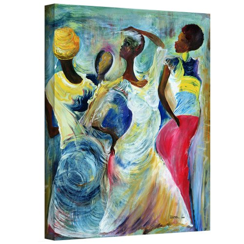 'Sister Act, 2002' by Ikahl Beckford  Painting Print on Wrapped Canvas beckford-003-32x26-w