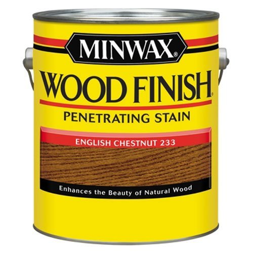 - Minwax 710440000 Wood Finish Penetrating Stain, gallon, English Chestnut
