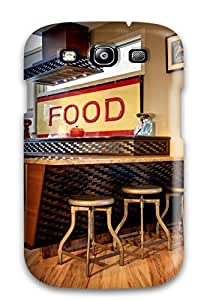 Slim Fit Tpu Protector Shock Absorbent Bumper Neutral Bar With Industrial-style Barstools Case For Galaxy S3