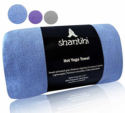 Shantihi Hot Yoga Towel - The Best Premium Yoga Mat Towel. Non Slip, Soft Absorbent Microfiber....