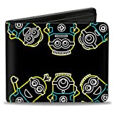 Buckle-Down Men's Wallet Electric Minions Pose + Minion Powered Black/yellow/b Accessory, -Multi, One Size