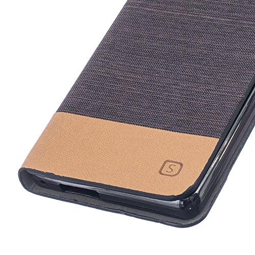 Wkae Case Cover La manera de lujo del cuero superior de la PU caja de la carpeta del caso de la lona cubierta del soporte de silicona suave de la caja de Doogee X5 ( Color : 5 , Size : DOOGEEX5 ) 3