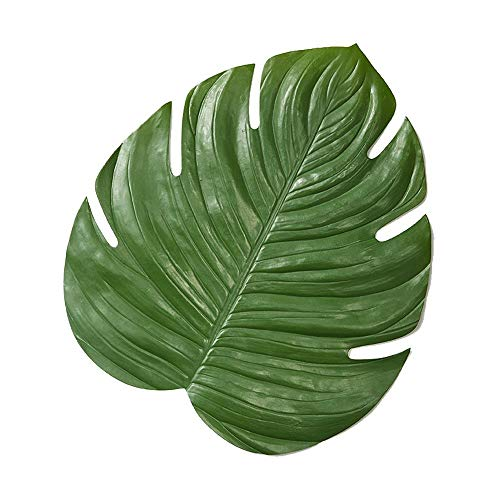 (Serene Spaces Living Monstera Leaf Placemat, Real Looking Plant Leaves for Dinner Table Décor, Measures 16.5