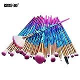 Honhui 20pcs/set Makeup Brush Set tools Make-up Toiletry Kit Wool...