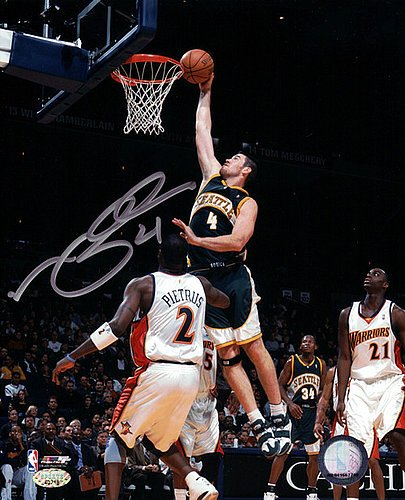 (Nick Collison Signed 8x10 Photo Seattle Sonics - NBA Basketball Photos)