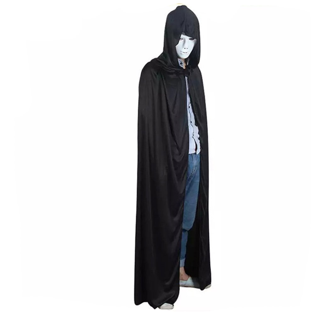 059b5bba07 Amazon.com  vimans Unisex Cosplay Shawl Wraps Black Hooded Cape Cloaks Role  Play  Clothing