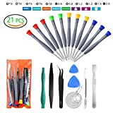 21pcs Precision Magnetic Screwdriver Repair Tools Kit Set for Phones/iphone, Computers/PC,Tablets/Pads/iPad Pro,Watch,and More Small Household Appliances Electronic Devices Pry Open DIY Tool Kits Set