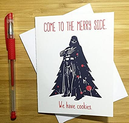 home made star wars christmas card