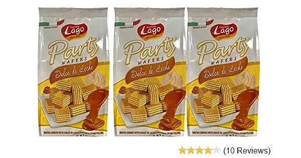 Amazon.com: Gastone Lago Party Wafers Dulce De Leche Cream Filling 8.82 oz, 250g (Pack of 3) (Dulce De Leche, 3-Pack)