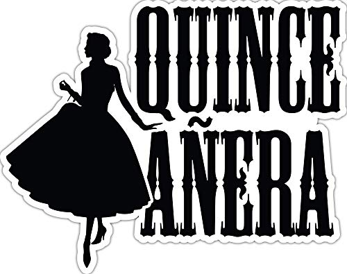 (4 All Times Quinceanera Automotive Car Decal for Cars, Trucks, Laptops (8.0
