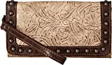 Blazin Roxx Women's Lydia Style Clutch Wallet, Taupe, Chocolate, OS