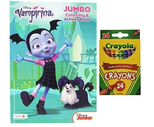 Disney Vampirina Coloring Book with Crayola Crayons 24 Pack