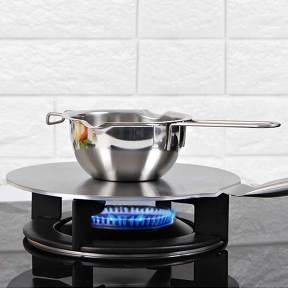 Placa Difusora de Calor para Inducción de acero inoxidable con la manija de la prueba del calor para el gas/la cocina eléctrica/de inducción (20cm)