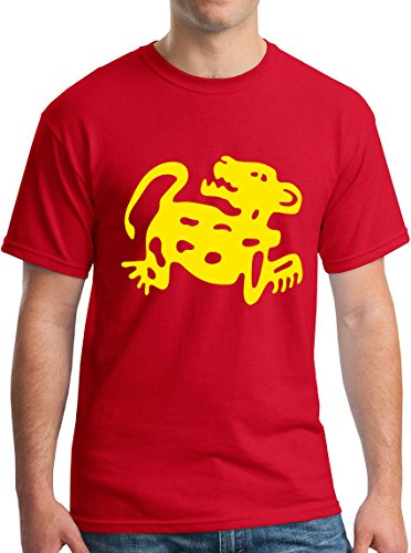 Mens Legends of the Hidden Temple Jaguar 90s Kids TV Global Guts Tee XL Red ()