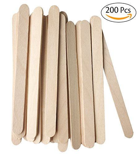 Korlon Natural Wooden Ice Cream Sticks Treat Sticks Freezer Pop Sticks, 4.5 (Ice Cream Pop)