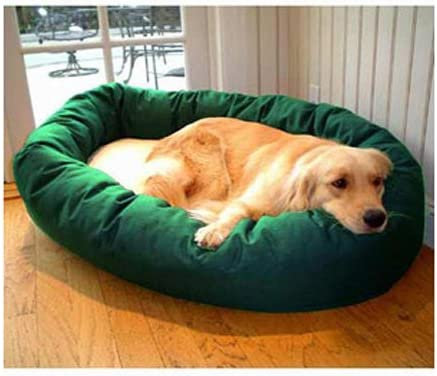 Majestic Pet Poly-Cotton Sherpa Bagel Dog Bed