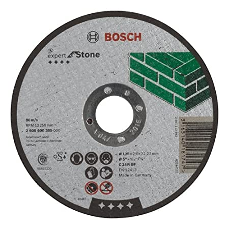Bosch 2608600385 2 608 600 385 Expert for Stone Straight Cutting disc, 125 mm